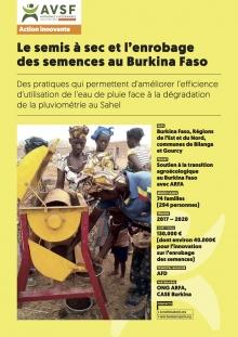 Les actions innovantes d'AVSF : Le semis à sec et l'enrobage des semences au Burkina Faso Vignette