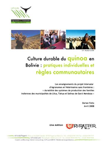 Thumbnail - Culture durable du quinoa en Bolivie : pratiques individuelles et normes communautaires