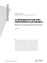 Thumbnail - Le développement local entre décentralisation et privatisation