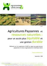 Thumbnail - Agricultures paysannes et ressources naturelles : pour un accès plus équitable et une gestion durable