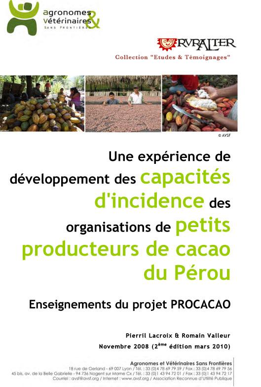 Thumbnail - Développement des capacités d'incidence des organisations de petits producteurs de cacao du Pérou
