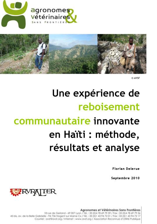 Thumbnail - Une expérience innovante de reboisement communautaire en Haïti : méthode, résultats et analyse