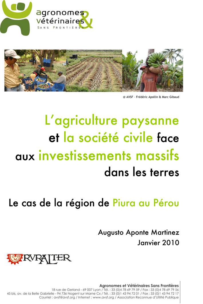 Thumbnail - Agriculture paysanne et société civile face aux accaparements de terres : le cas de Piura au Pérou