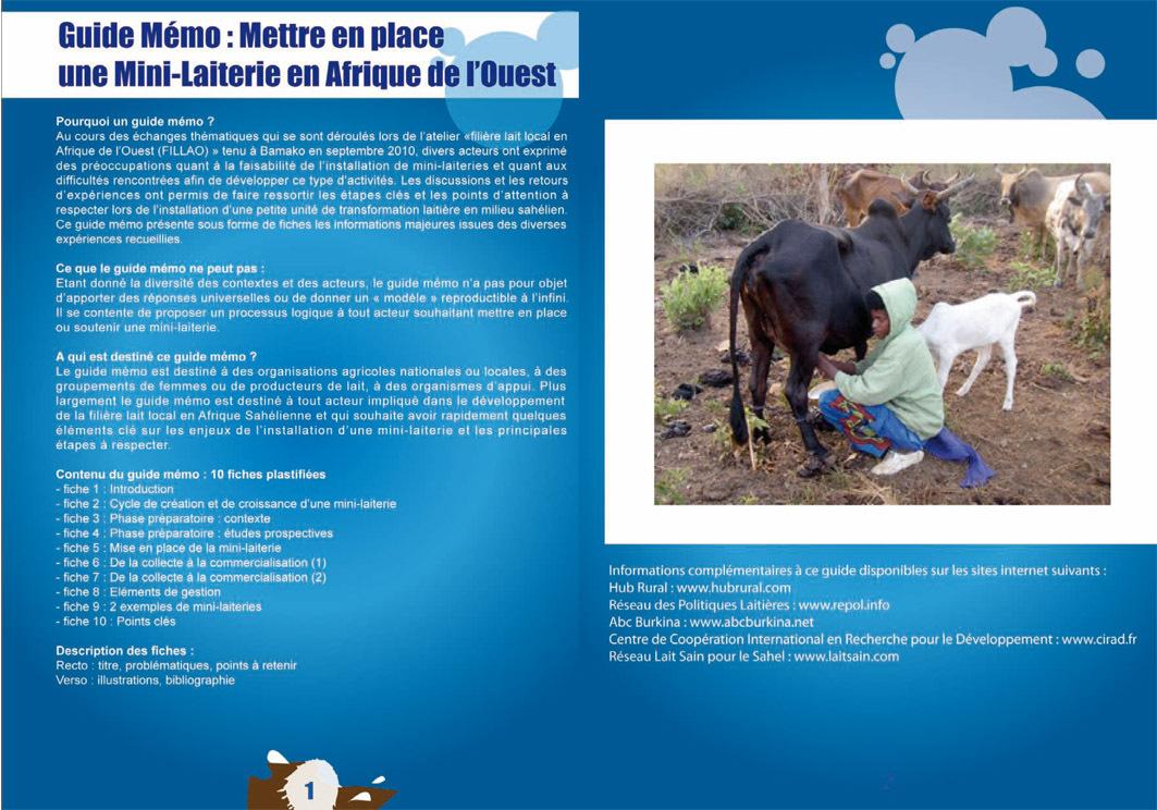 Thumbnail - Guide mémo : mettre en place une mini-laiterie en Afrique de l'Ouest