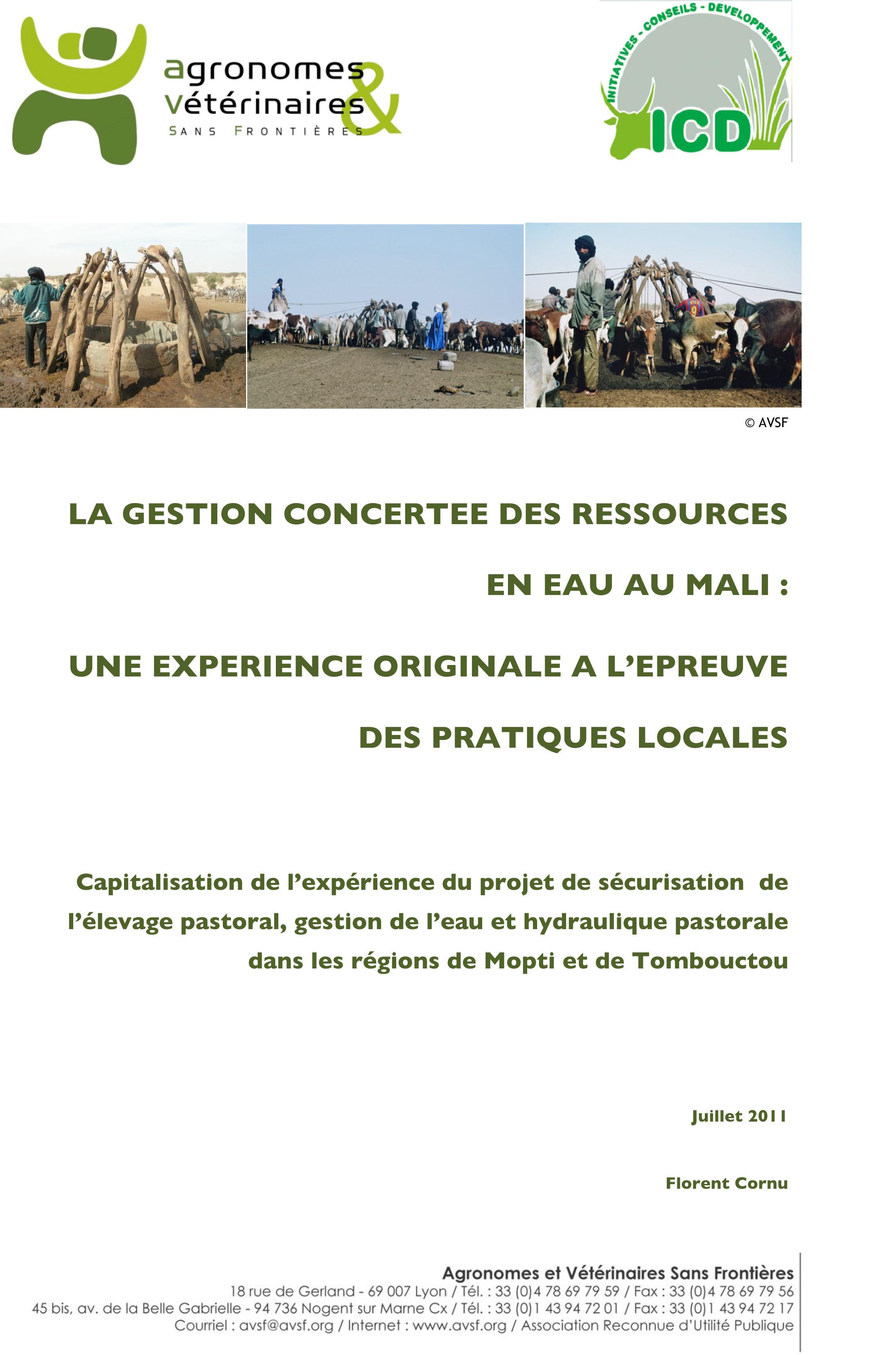 Thumbnail - Gestion concertée des ressources en eau au Mali : une expérience originale à l'épreuve des pratiques locales