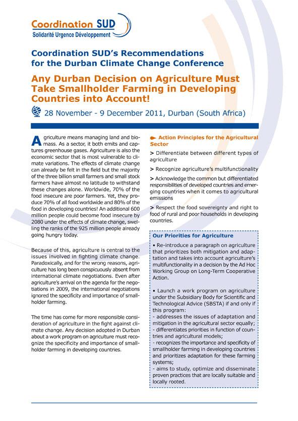 PDF Preview - La posición de las ONG francesas en relación a la conferencia climatica de Durban 2012