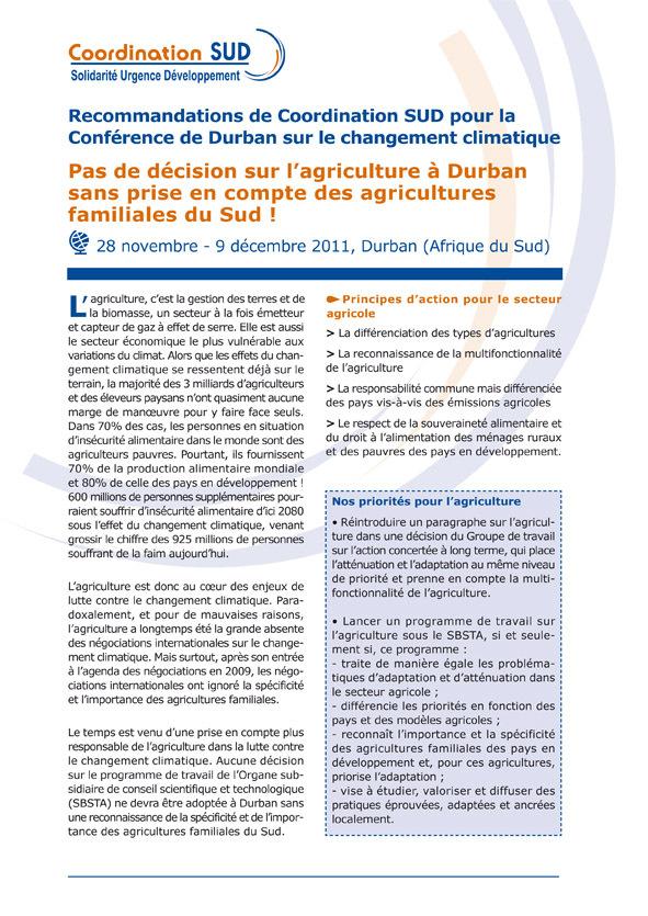 Thumbnail - La position des ONG françaises pour la conférence climatique de Durban 2012