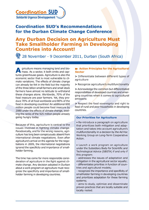 Thumbnail - French NGOs recommendations for the Durban Climate COP 17
