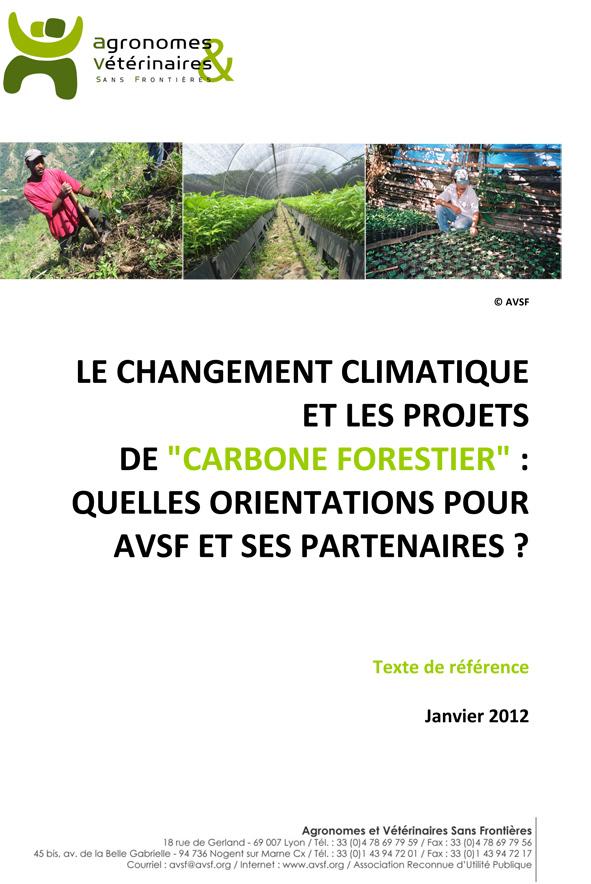 """Thumbnail - Le changement climatique et les projets de """"carbone forestier"""" :  quelles orientations pour AVSF et ses partenaires ?"""