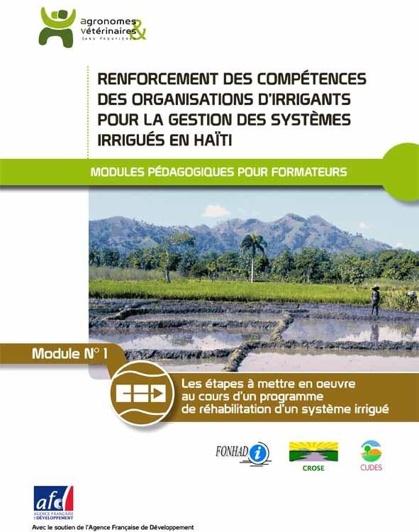 Thumbnail - Les étapes d'un programme de réhabilitation d'un système irrigué : module pédagogique n°1 pour la bonne gestion des systèmes irrigués en Haïti